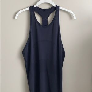 Lululemon Swiftly Tank T-Back Size 8, Navy